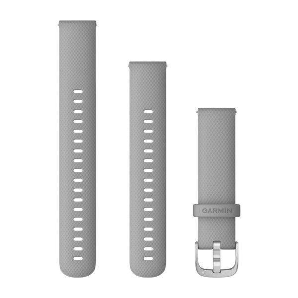 Řemínek Quick Release 18mm, šedý, stříbrná přezka