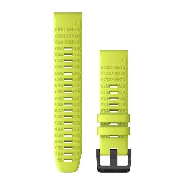 Řemínek pro fenix6 - QuickFit 22, silikon., žlutý, černá přezka