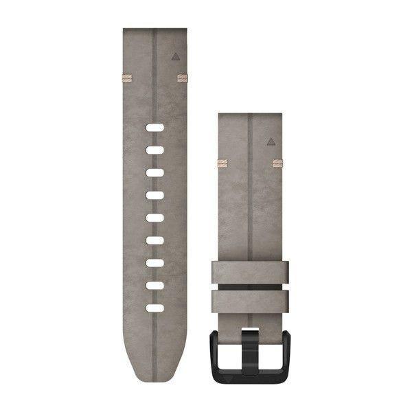 Řemínek pro fenix6S - QuickFit 20, semišový, šedý, černá přezka