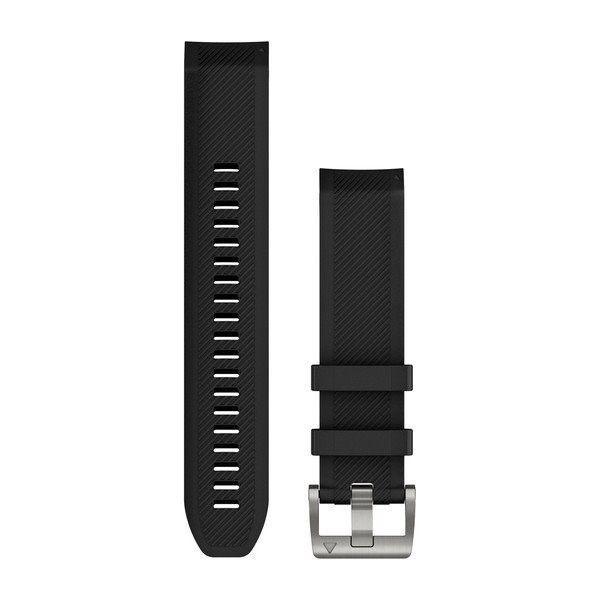 Řemínek pro MARQ - QuickFit 22, silikonový, černý