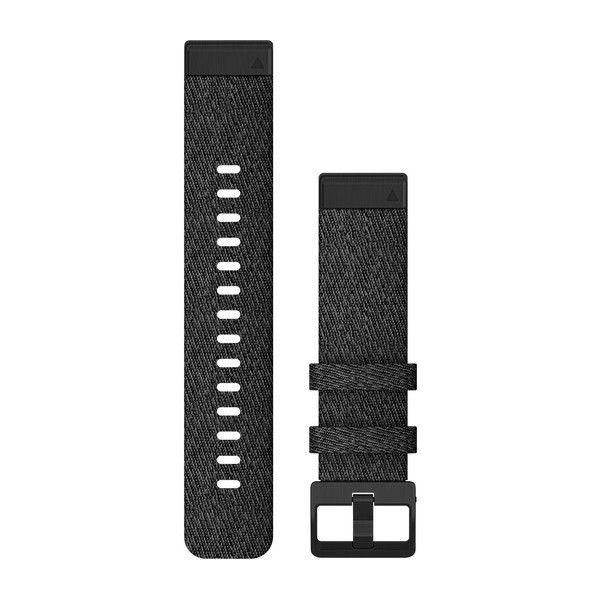 Řemínek pro fenix6S - QuickFit 20, nylonový, černý, růžovozlatá přezka