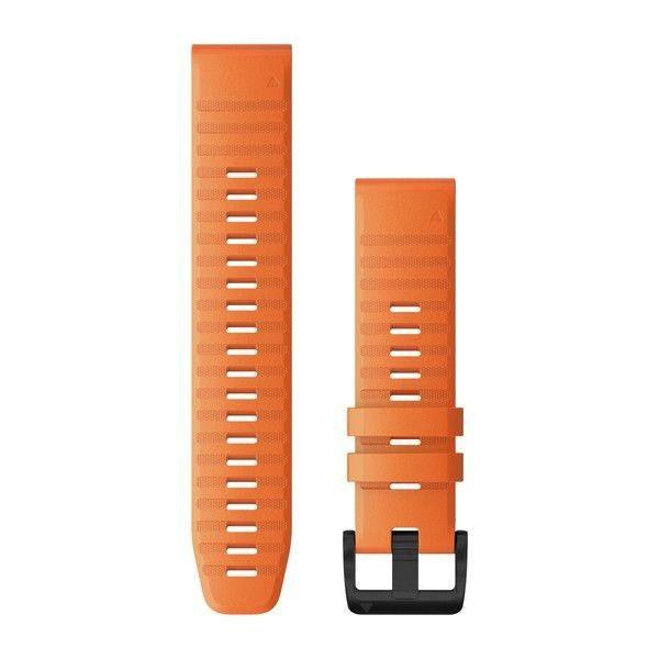 Řemínek pro fenix6 - QuickFit 22, silikon., oranžový, černá přezka
