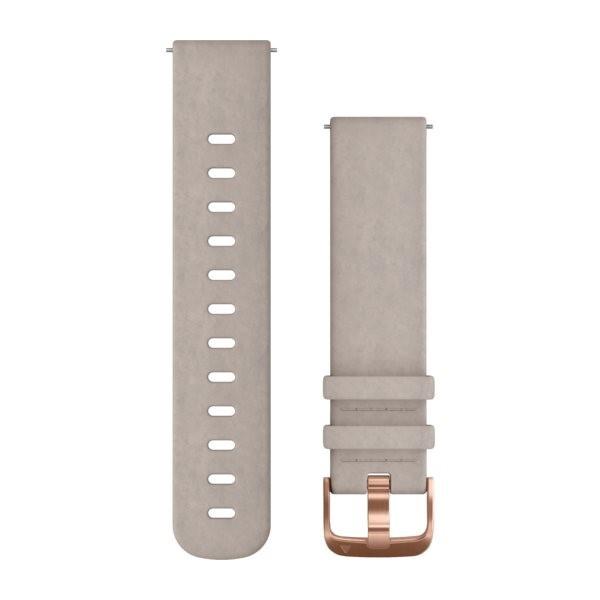 Garmin řemínek Quick Release 20mm, semiš šedý, růžovozlatá přezka