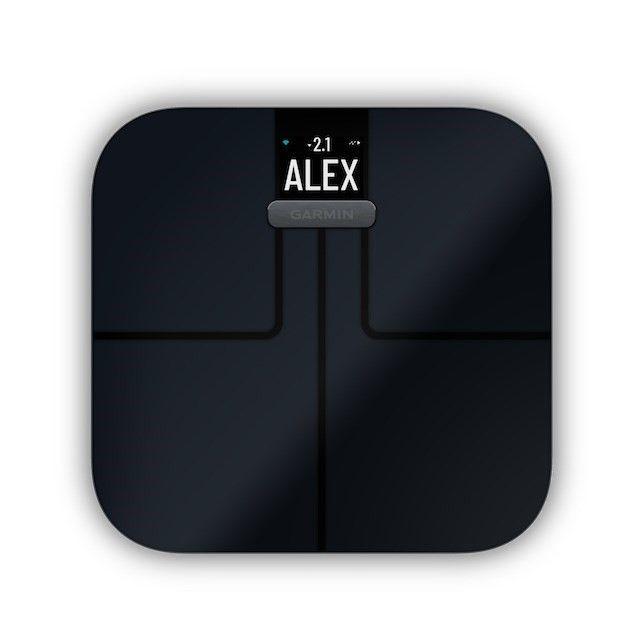 Garmin Index S2 Black - chytrá váha, černá barva
