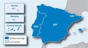 Garmin - uliční mapa, Španělsko a Portugalsko