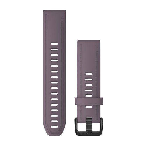 Řemínek pro fenix6S - QuickFit 20, silikon., fialový, černá přezka