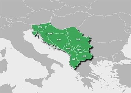 Garmin - turistická mapa balkánských zemí AdriaTOPO v4 PRO