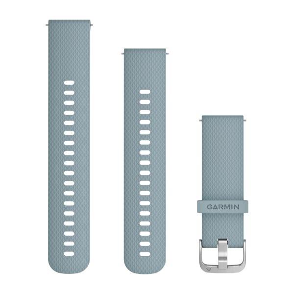Garmin Řemínek Quick Release 20mm, silikonový šedomodrý,stříbrná přezka