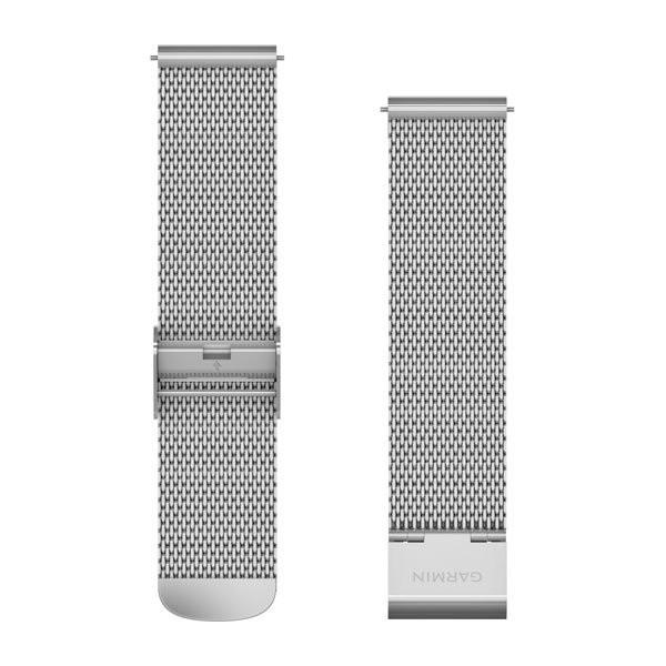 Řemínek Quick Release 20mm, kovový stříbrný, milánský tah