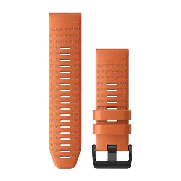 Řemínek pro fenix6X - QuickFit 26, silikon., oranžový, černá přezka