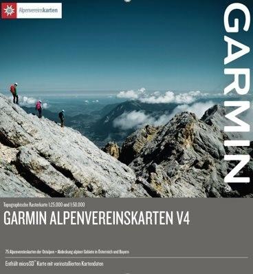 Turistická mapa Alpenvereinskarten v4, microSD