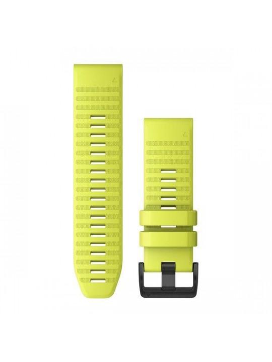 Řemínek pro fenix6X - QuickFit 26, silikon., žlutý, černá přezka