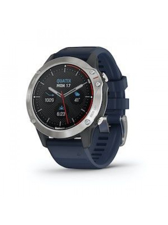 Garmin Quatix6 PRO Glass Silver/Blue Band