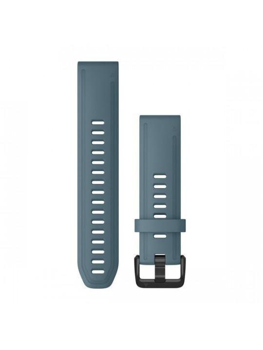 Řemínek pro fenix6S - QuickFit 20, silikon., modrý, černá přezka