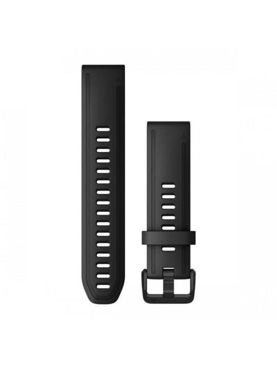 Řemínek pro fenix6S - QuickFit 20, silikon., černý, černá přezka