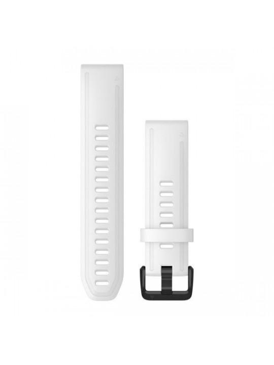 Řemínek pro fenix6S - QuickFit 20, silikon., bílý, černá přezka