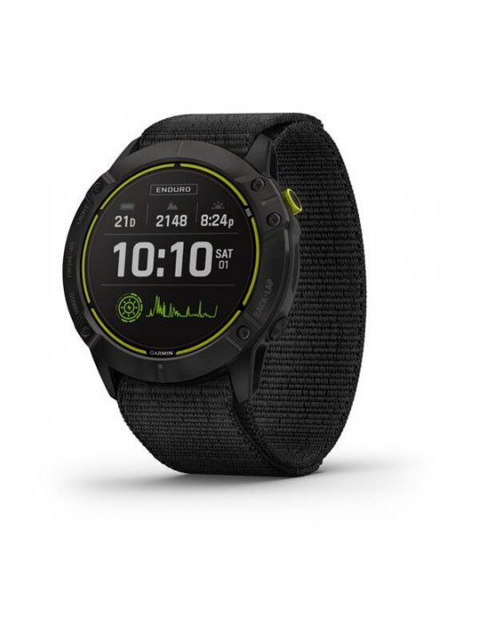 Garmin Enduro, Carbon Gray DLC Titanium/Black UltraFit Nylon