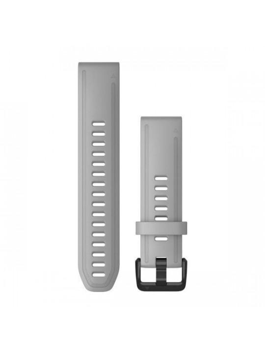 Řemínek pro fenix6S - QuickFit 20, silikon., šedý, černá přezka