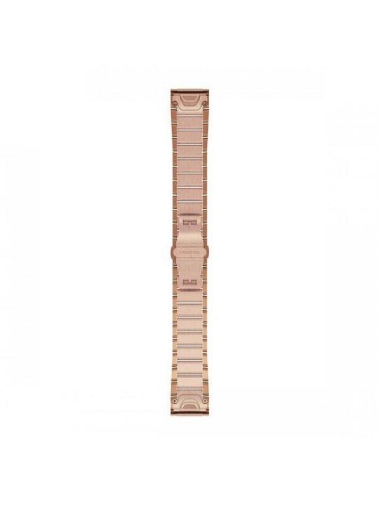 Řemínek pro fenix5S Plus - QuickFit 20, kovový, Rose Gold
