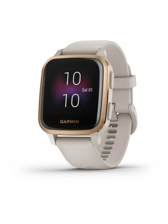 Garmin Venu Sq Music, RoseGold/Sand Band