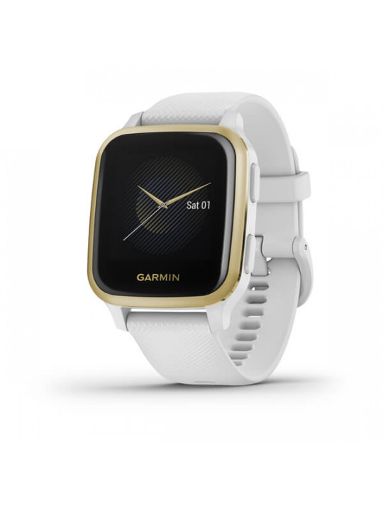 Garmin Venu Sq, LightGold/White Band
