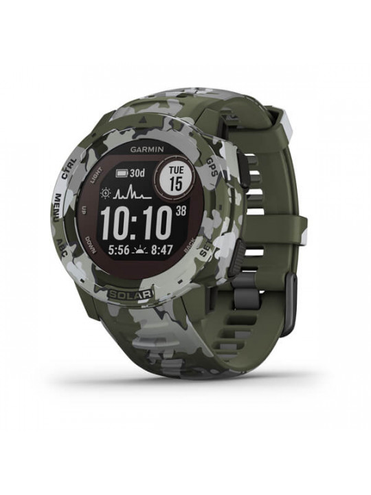 Garmin Instinct Solar Camo Green Optic