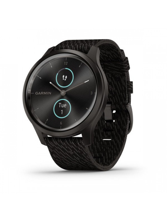 Garmin vivomove3 Style, Slate/BlackNylon Band
