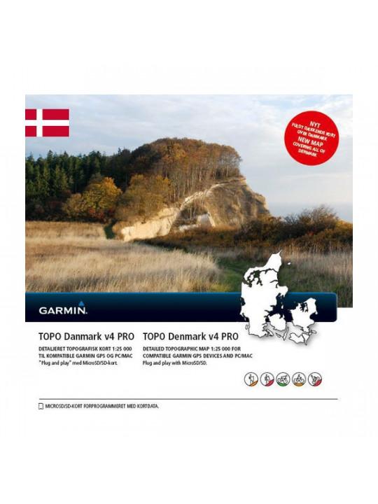 Turistická mapa Dánska, TOPO Danmark microSD/SD