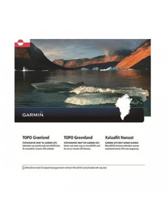 Garmin - turistická mapa Grónska, TOPO Greenland