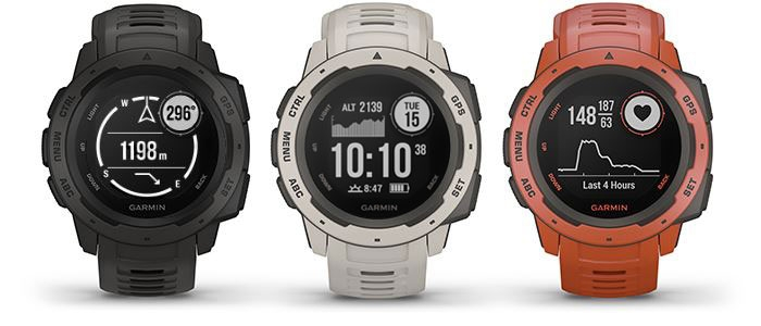 Garmin Instinct - Black, Red, Gray